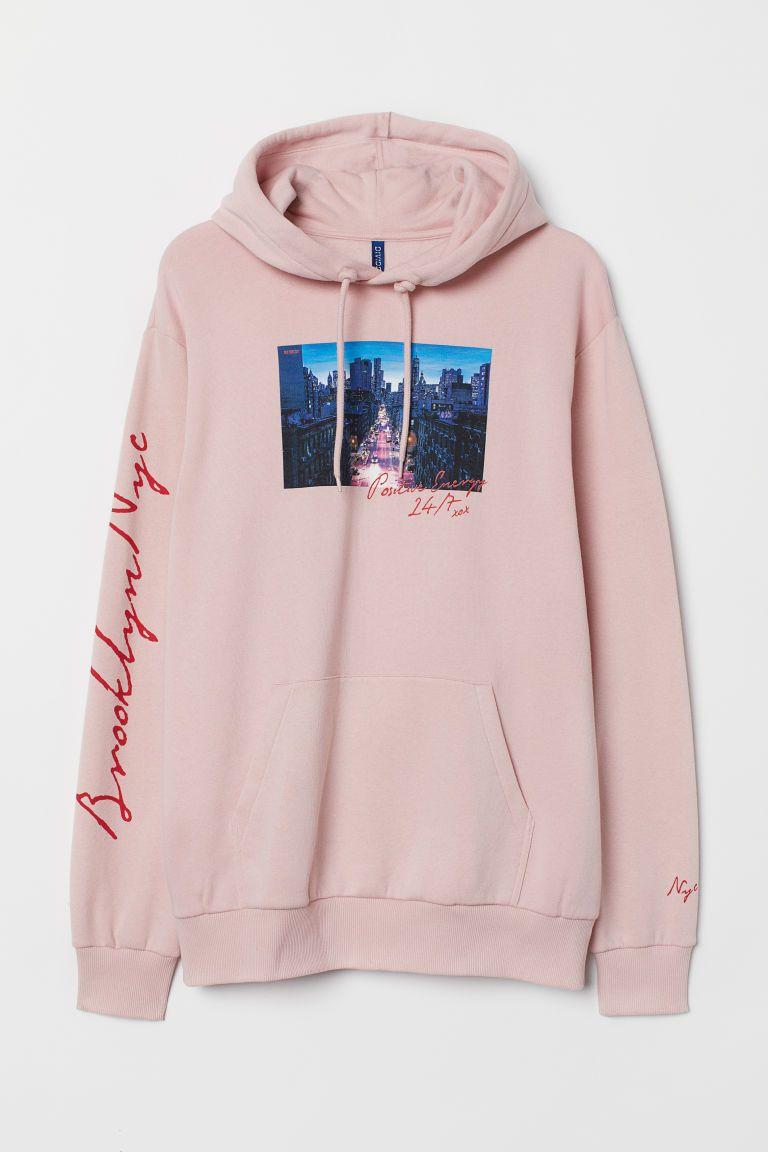Hoodie Pink Brooklyn Nyc Men H M Us Cute Outfits With Jeans Sweatshirts Stylish Hoodies [ 1152 x 768 Pixel ]