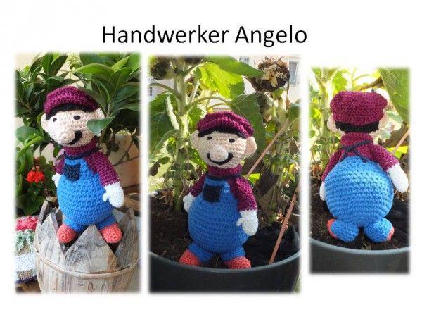 Handwerker Angelo Amigurumi Puppe zum Häkeln   mein Angebot bei ...