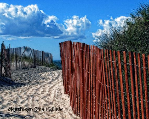 beach path beach fence beach theme Rhode by EyeLuvPhotography, $20.00