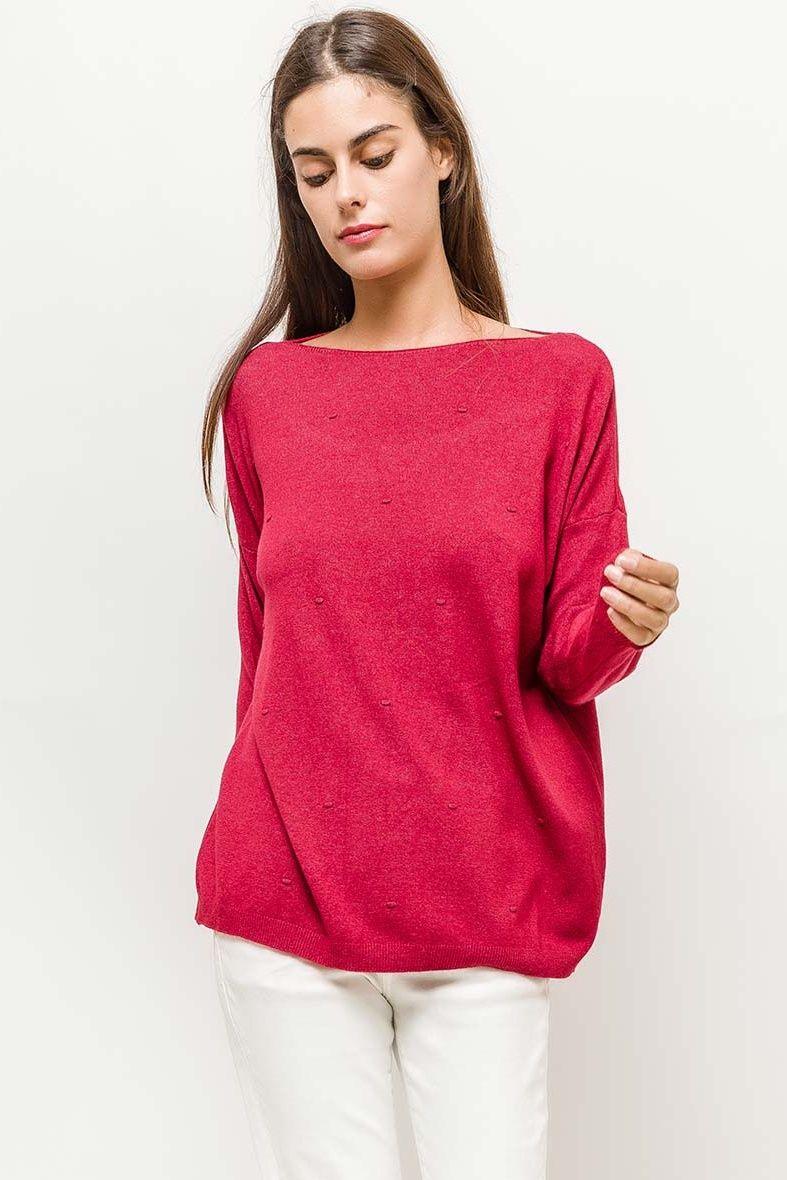 f450cc18022b Klasický dámsky červený sveter