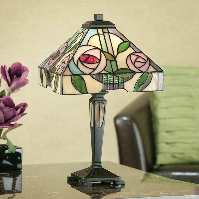 Lampada Tiffany Da Tavolo Scrivania O Comodino Con Fiori Lampada Tiffany Lampade In Vetro Vetrate Tiffany