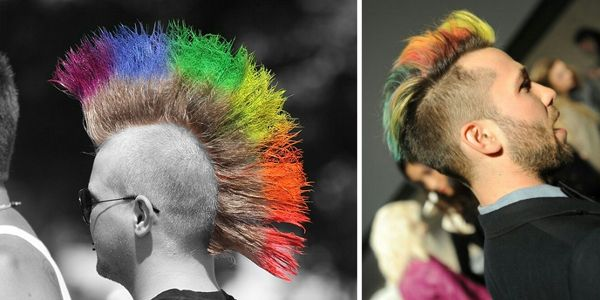 Τολμηροί άνδρες με rainbow μαλλιά!!!