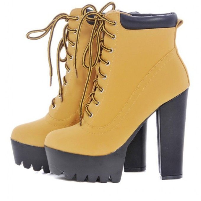 Timberland High Heel Boots For Women Outfits