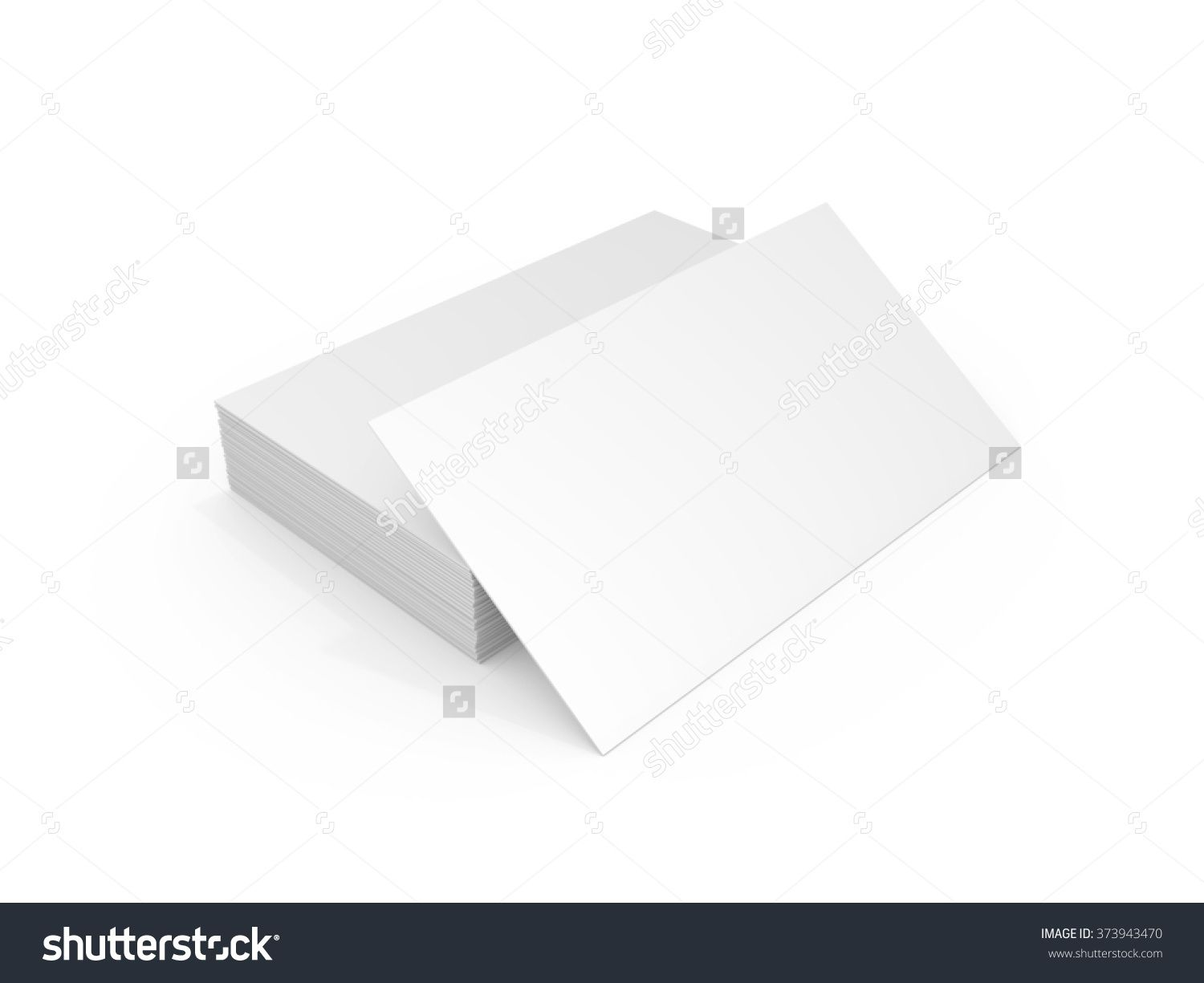 Stack Of White Blank Business Cards Ready For MockUp Personal