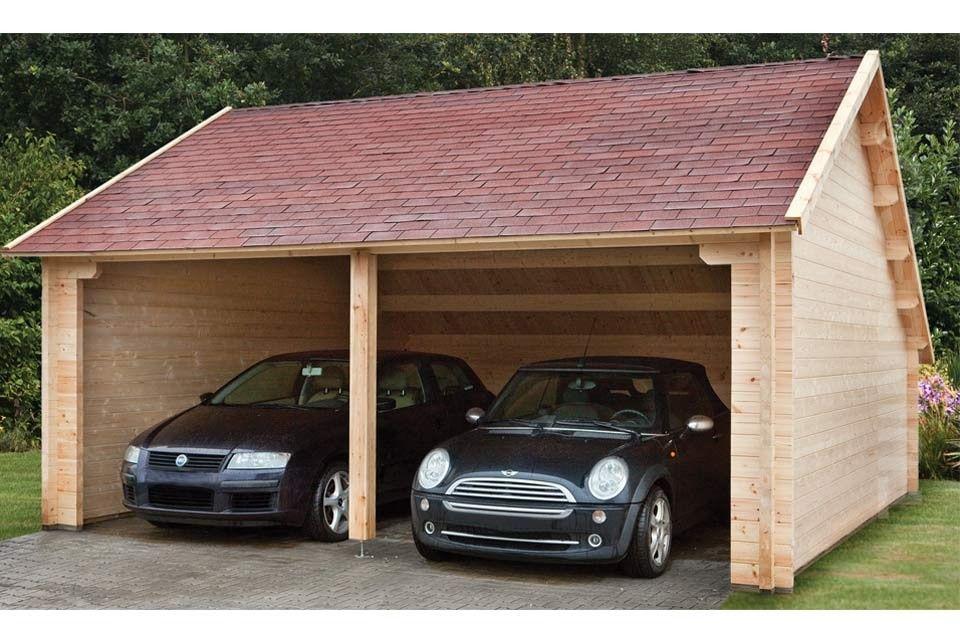 Houten garage, bijgebouw tuinhuis Wooden garage, carport