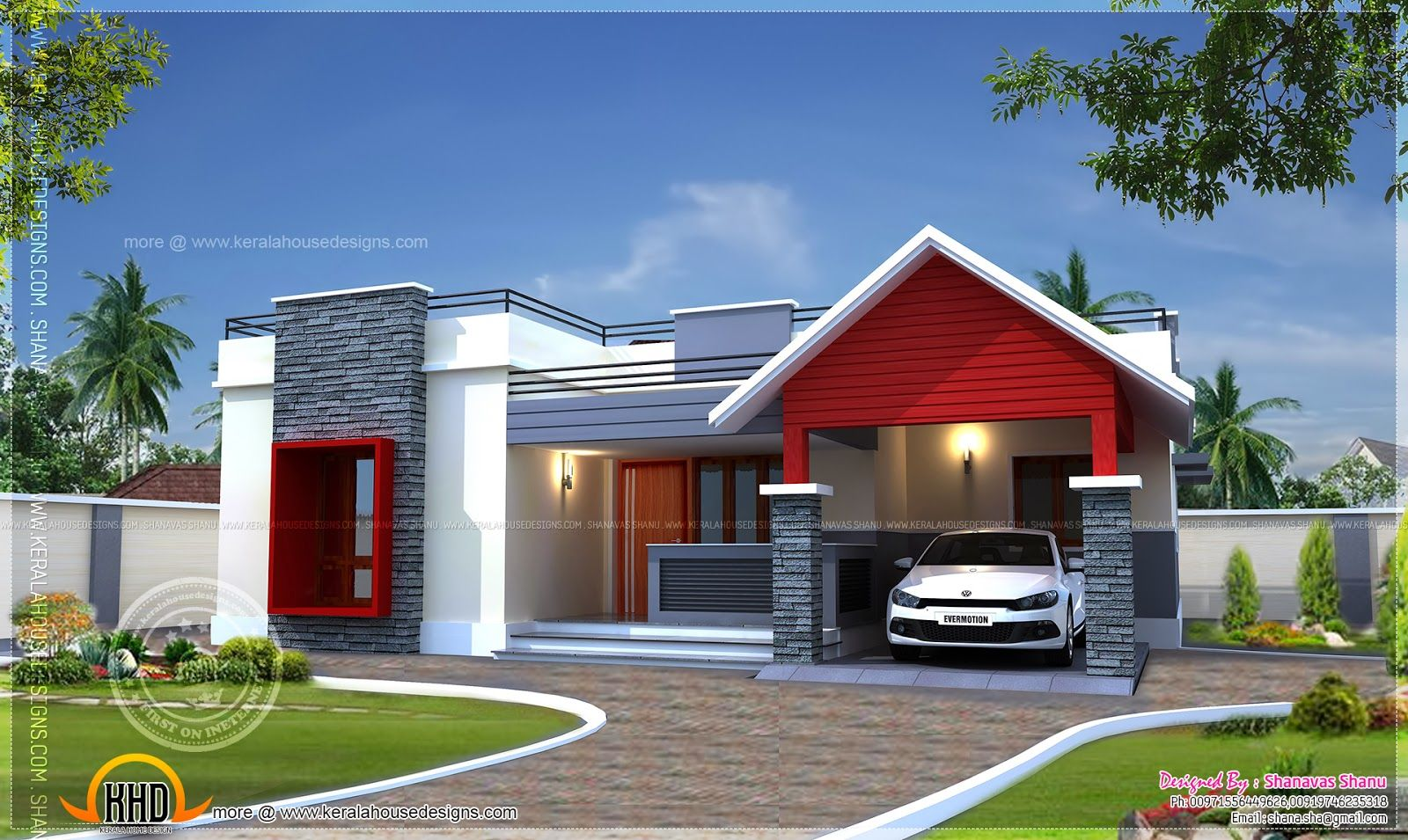 Modern One Story Floor Plans Google Search Traditionally Trendy Kerala House Design One Storey House Modern House Plans