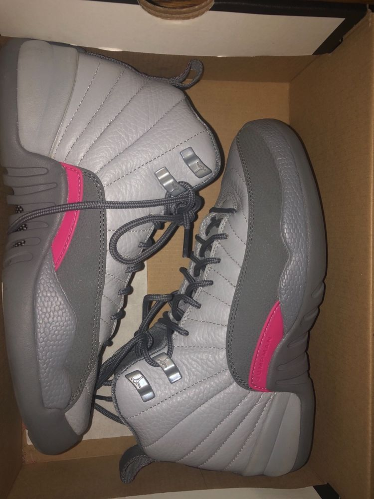 reputable site f86bb 52b01 New Air Jordan 12 Retro GG Wolf Grey Vivid Pink Cool Grey Size 5y  (510815-029)  fashion  clothing  shoes  accessories  kidsclothingshoesaccs   unisexshoes ...