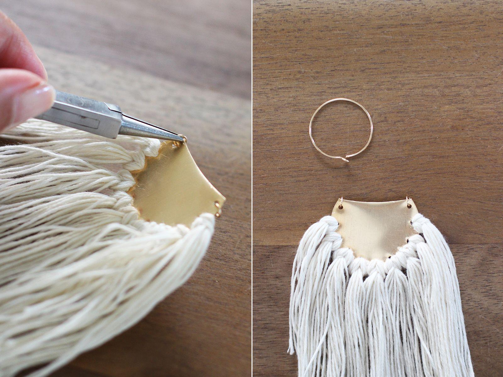 diy brass fringe earrings | craft