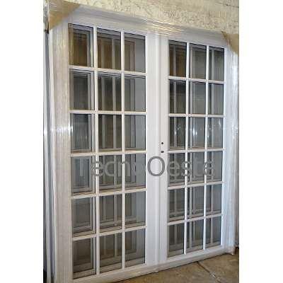 Puerta Doble Aluminio Blanco Vidrio Puerta Doble Aluminio Puertas Balcon