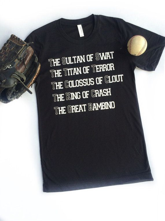 quality design 458bd 4c3ee Kids Youth Mens Sandlot inspired Babe Ruth Tee by ...