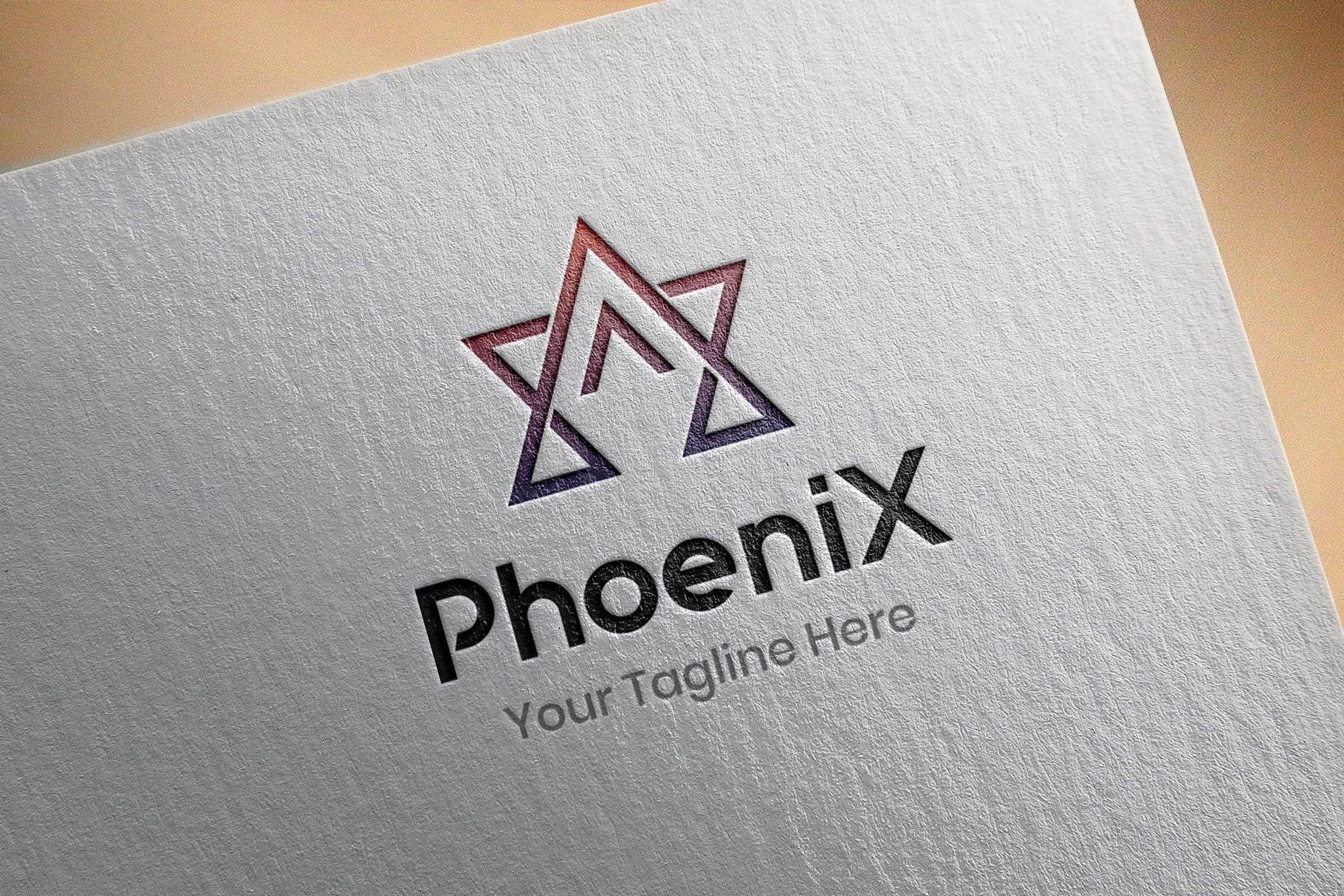 Phoenix Abstract Technology Business Corporate Stylish Star Galaxy