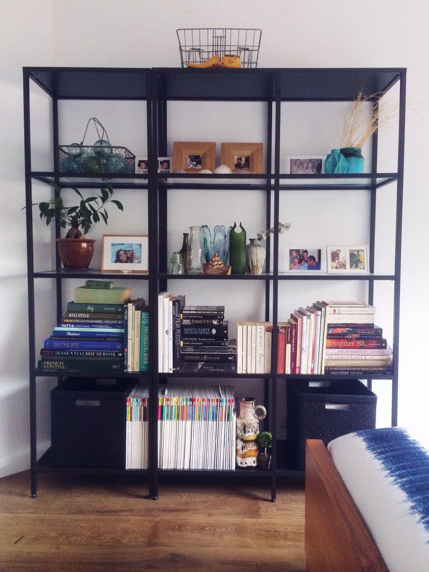 Glass Bookshelf Vittsjo Black Steel Glass Bookshelf Ikea Magazines Boxes