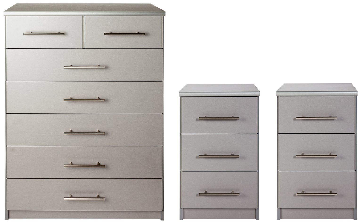 Buy Argos Home Normandy 9 Bedsides & 9+9 Drawer Chest Set - Grey