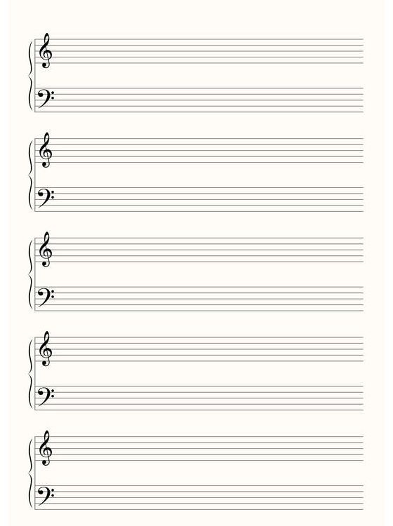 Customize Your Free Printable Blank Sheet Music With Images