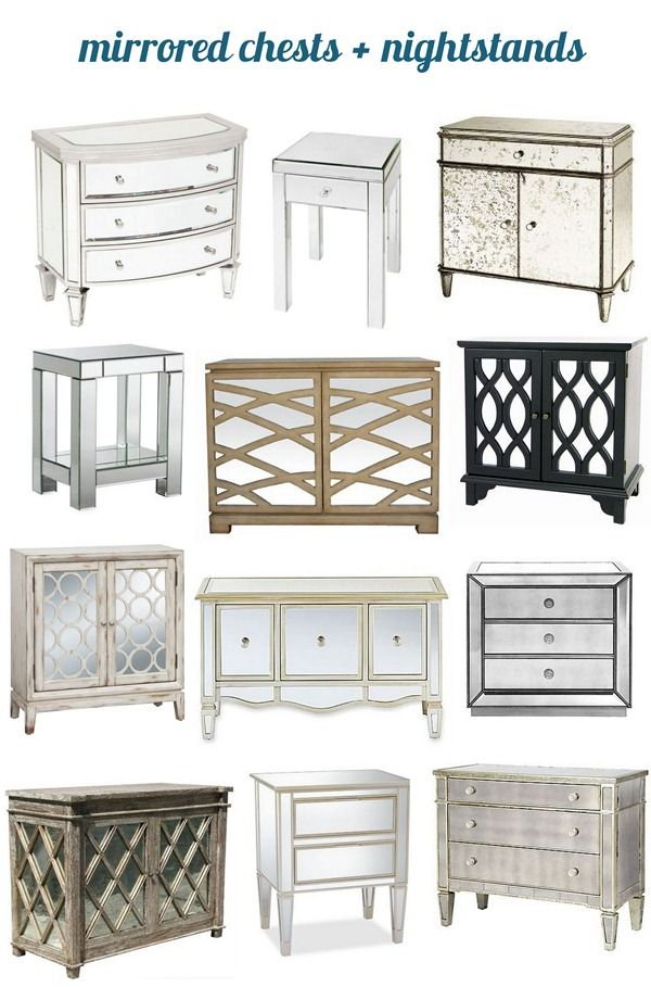 best of mirrored chests and nightstands