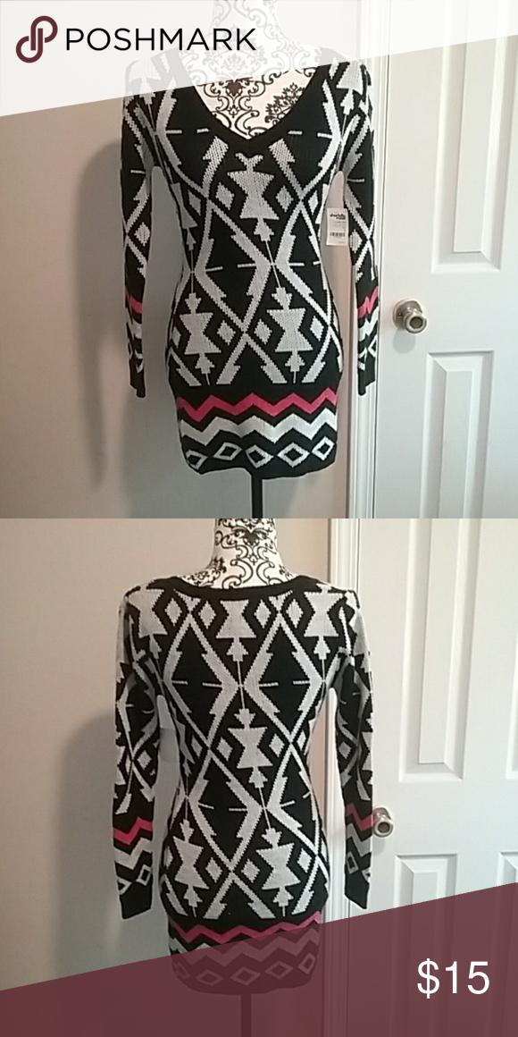 Charlotte Russe Aztec Print Sweater Dress NWT NWT #aztec