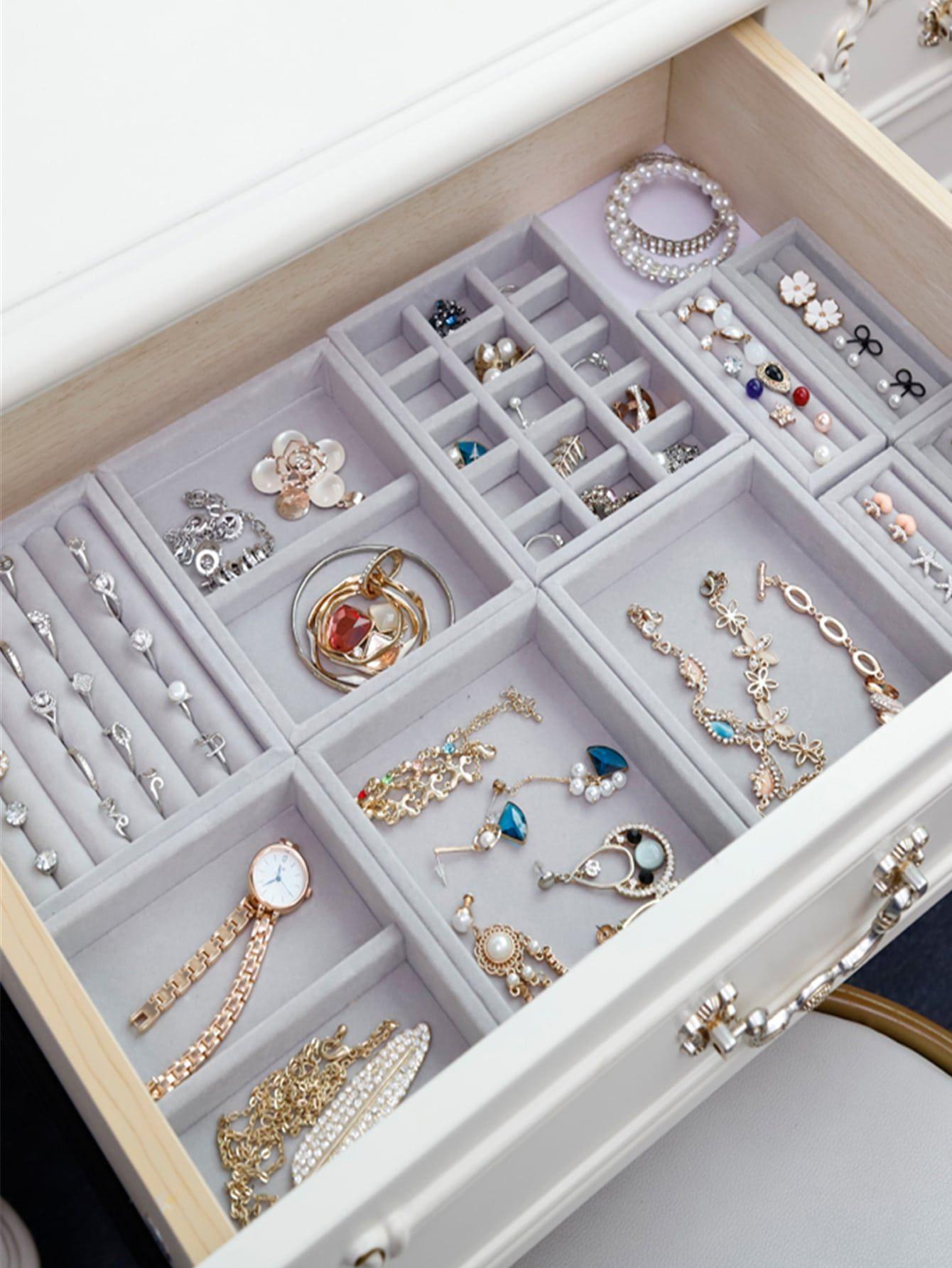 1pc Solid Jewelry Storage Box In 2020 Jewellery Storage Girly Room Decor Jewelry Organizer Drawer