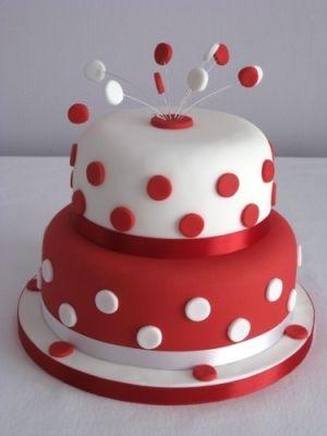 polka dot cake by lucylaine