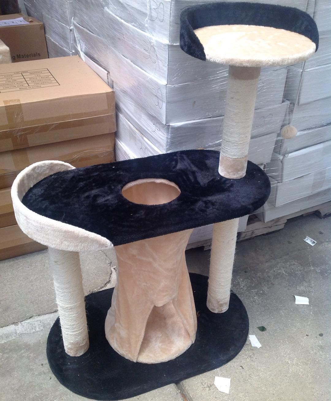 """Our Cat Trees come in 3 sizes: 44"""" tall (shown here) 53"""" tall and 71"""" tall. #SoutheasternSalvage #HomeEmporium #homedecor #catlovers"""