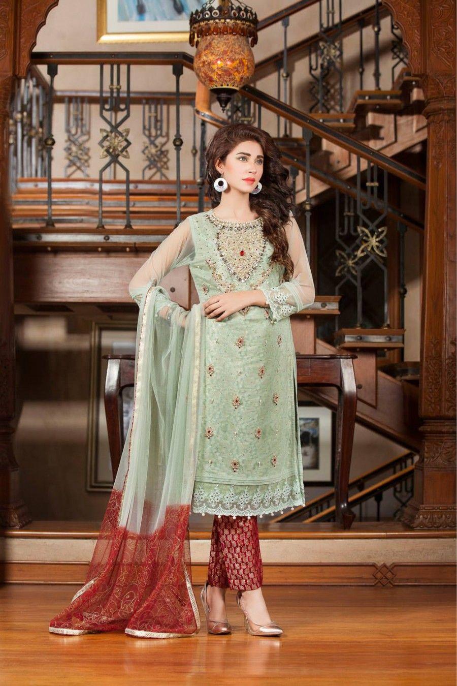 187df0346d5 Green Color Party Wear Dress - Exclusive Online Boutique
