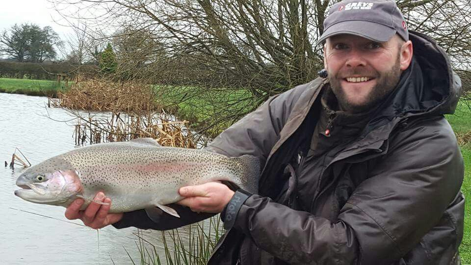 Andy Taylor, Editor at Total Flyfisher with this feisty rainbow from Jan 16 #ellerdinebows