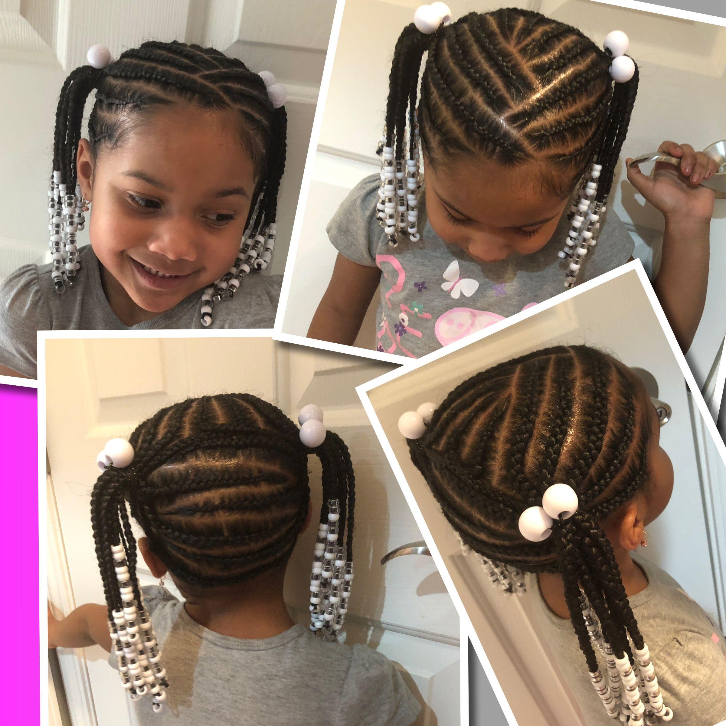 Little Girl Braids Two Ponytails Little Girl Braids Little Girl Braid Hairstyles Girls Hairstyles Braids