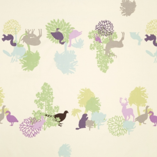 Manimals Green Oilcloth Scandinavian Design Centre Green Woodland Animals