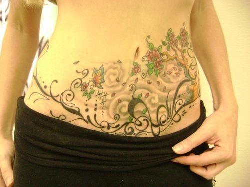 50 Tatuajes Para Tapar Estrías En La Barriga Tattoo Tattoos