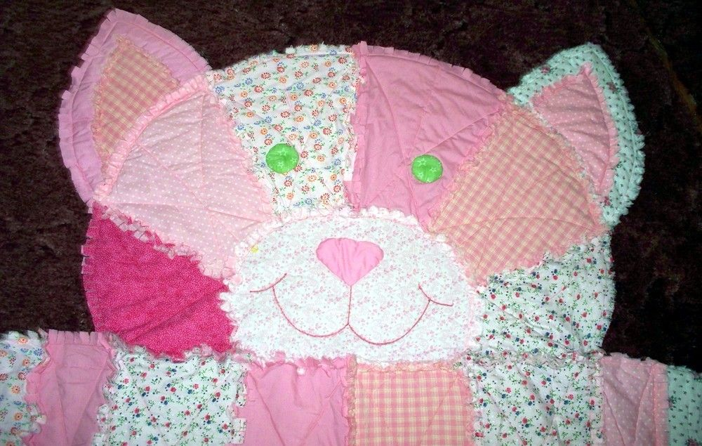Cat rag quilt...I did mine in different shades of pink flannelette