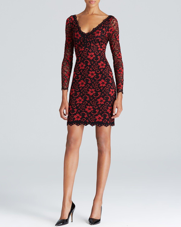 Karen Kane Floral Lace Dress Women Bloomingdale S Red Lace Dress Floral Lace Dress Red Floral Dress [ 1500 x 1200 Pixel ]
