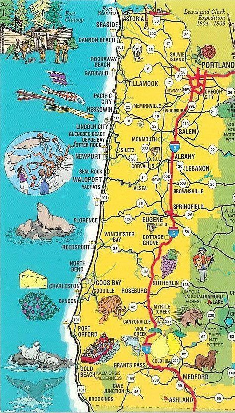 Oregon Map 12 Reasons The Coast Is Better Than Disneyland