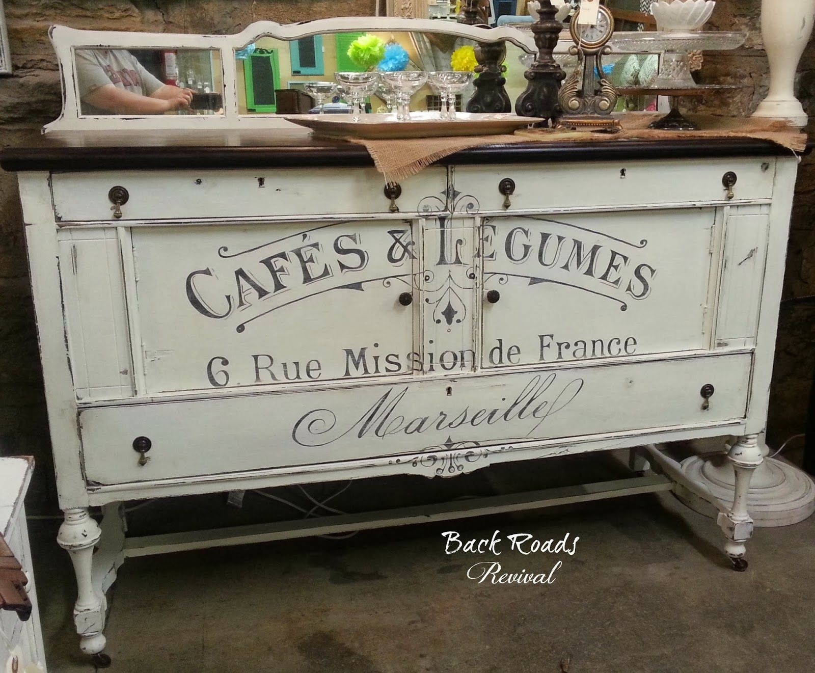 French Script Buffet. Great Graphic!