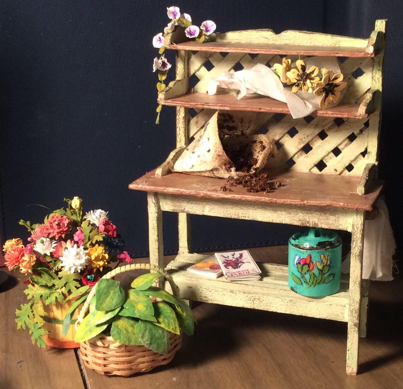 Learn how to make miniature dollhouse furniture