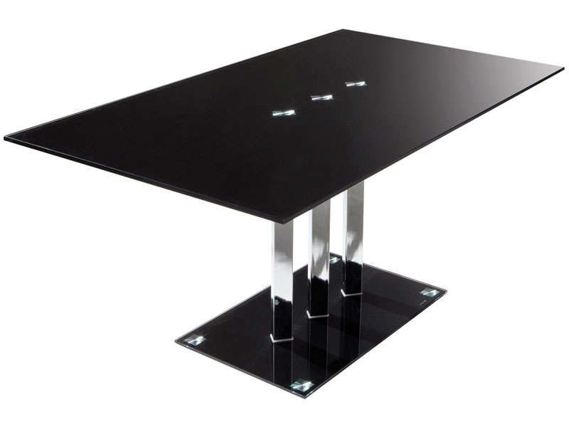 Table rectangulaire VIDEO coloris noir - Vente de Table de cuisine - Conforama Tables De Cuisine
