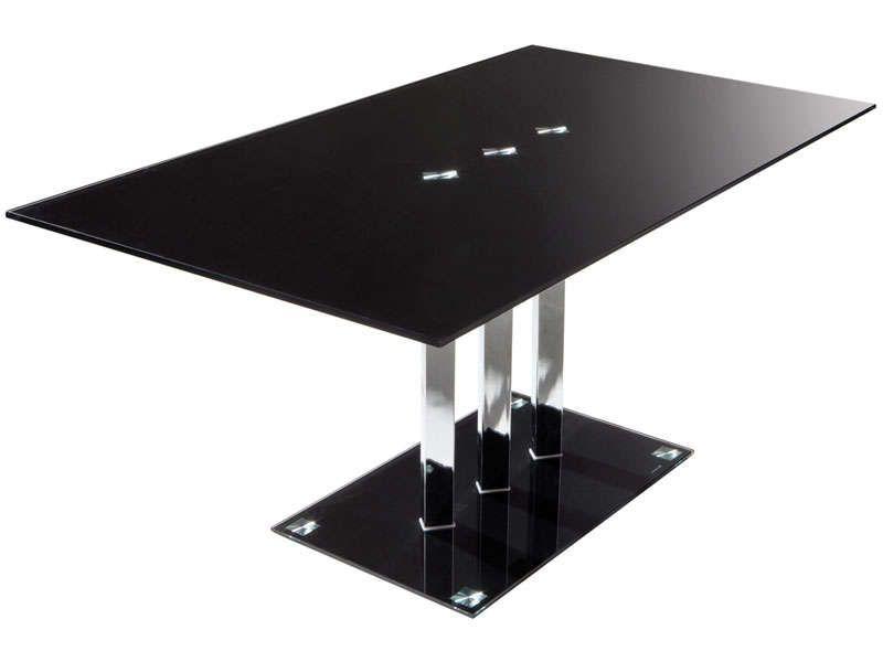 Table rectangulaire VIDEO coloris noir - Vente de Table de cuisine