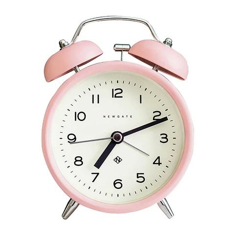 Newgate Charlie Bell Marshmallow Pink Alarm Clock In 2020 Alarm Clock Retro Alarm Clock Newgate Clocks
