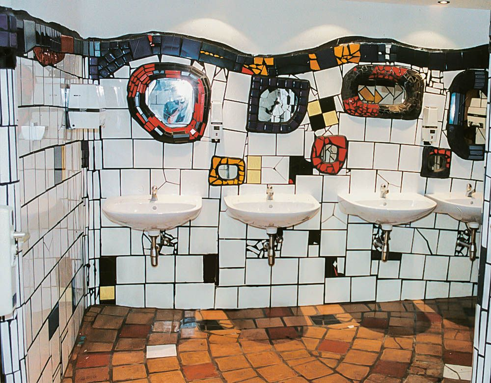 Hundertwasser Badezimmer ~ Hundertwasser even the bathroom is beautiful bathrooms