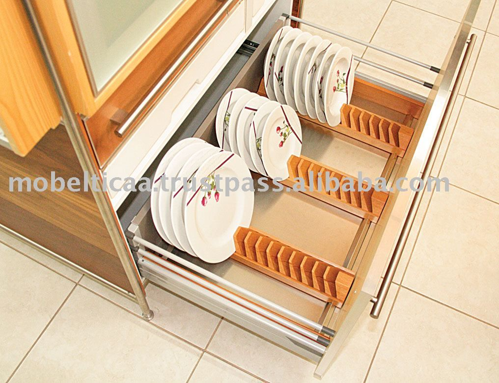 Massive Wooden Holder For The Dishes 90cm Organizarcocina  # Muebles Lado Cee