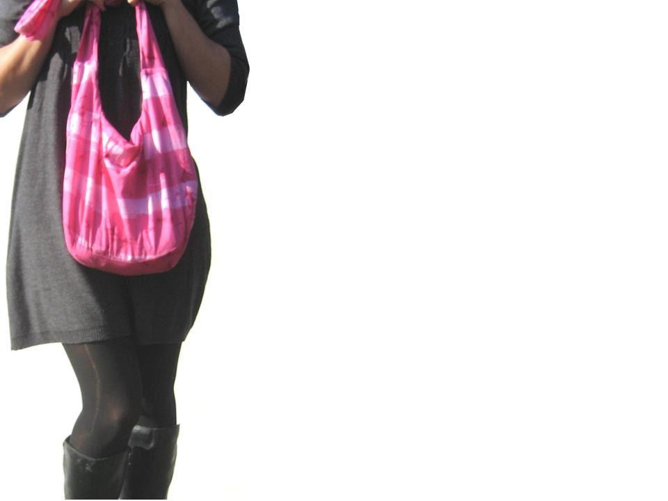 Handbag. Hobo Bag. Hot Pink Striped Tie Dyed. Large Purse, Slouch Bag. Valentines Gift for Her Under 30.. $30.00, via Etsy.