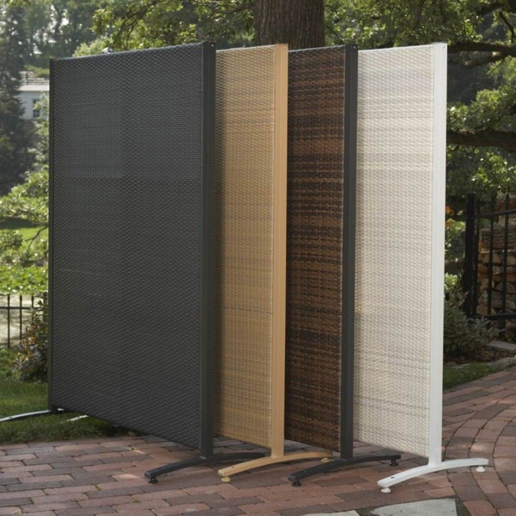 Versare outdoor wicker resin divider patio furniture for Deck privacy screen panels