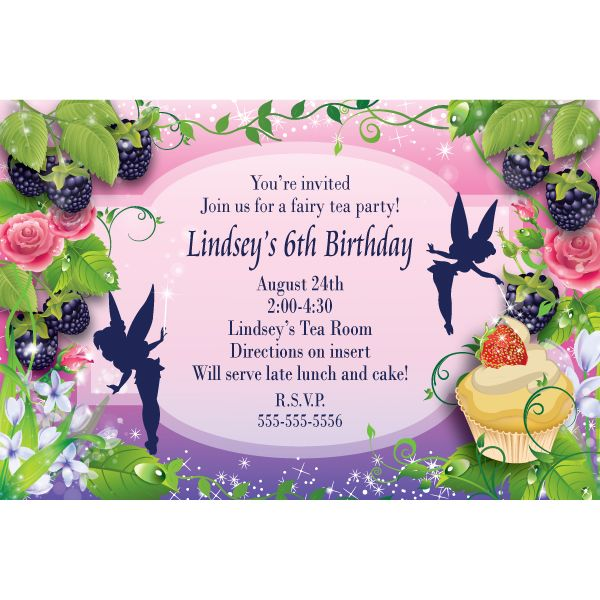 Free Tinkerbell Invitation Templates Fairy Dust Personalized - birthday invitation design templates