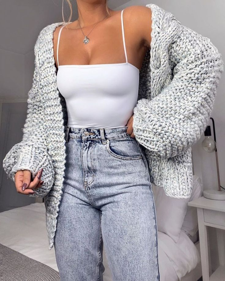 Photo of Loose Knitted Casual Cardigan Tops Women Long Sleeve Sweaters