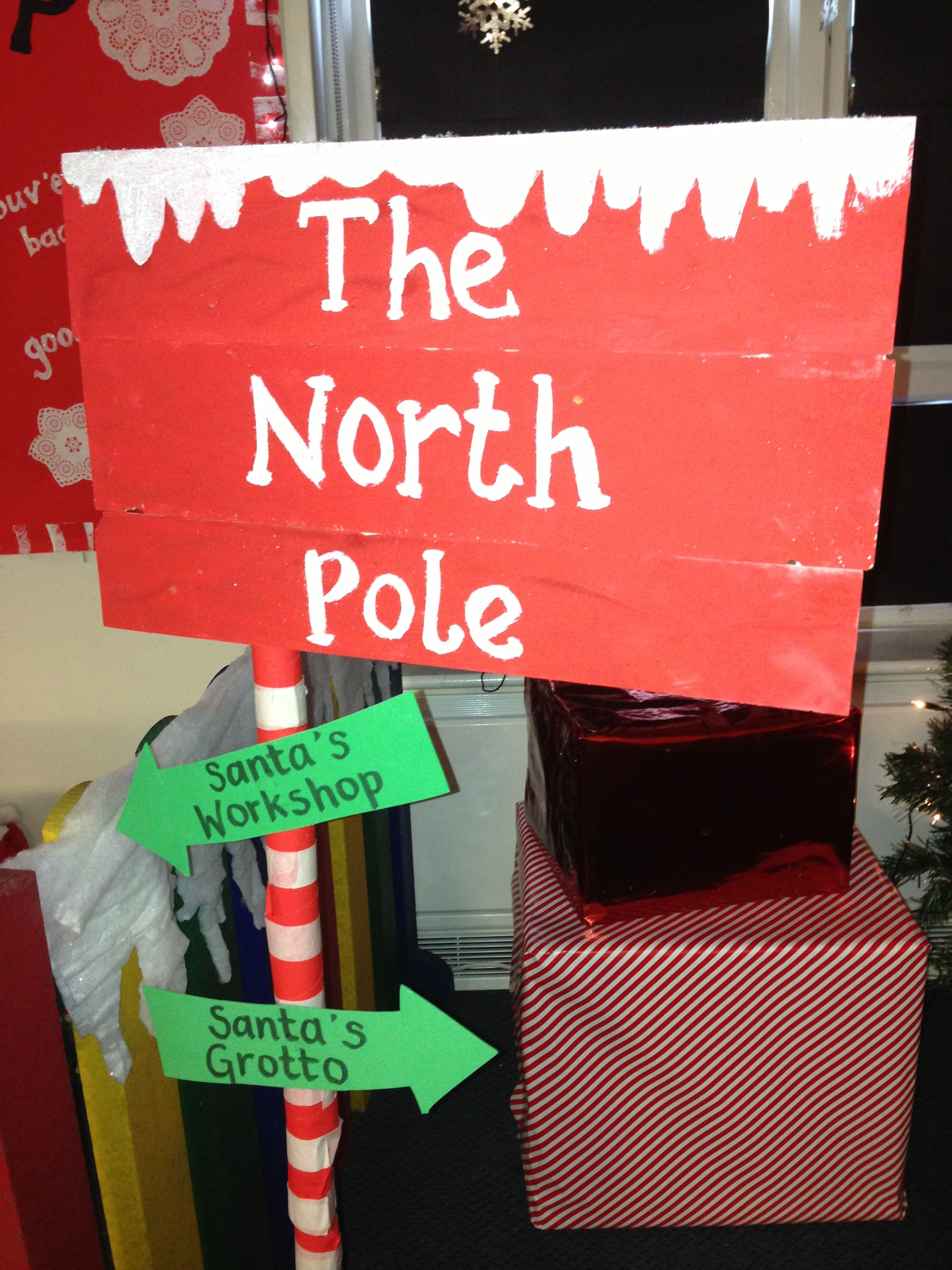 Our Santa S Grotto Sign At School With Images