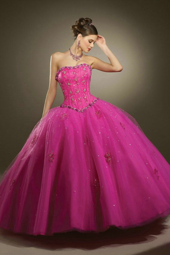 Flower Ruched Strapless Lace Up With Jecket Applique Fuchsia ...
