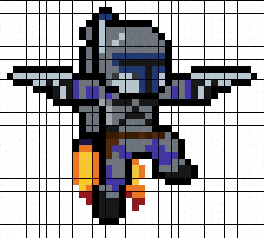 Jango Fett Perler Bead Pattern Minecraft Pixel Art Perler