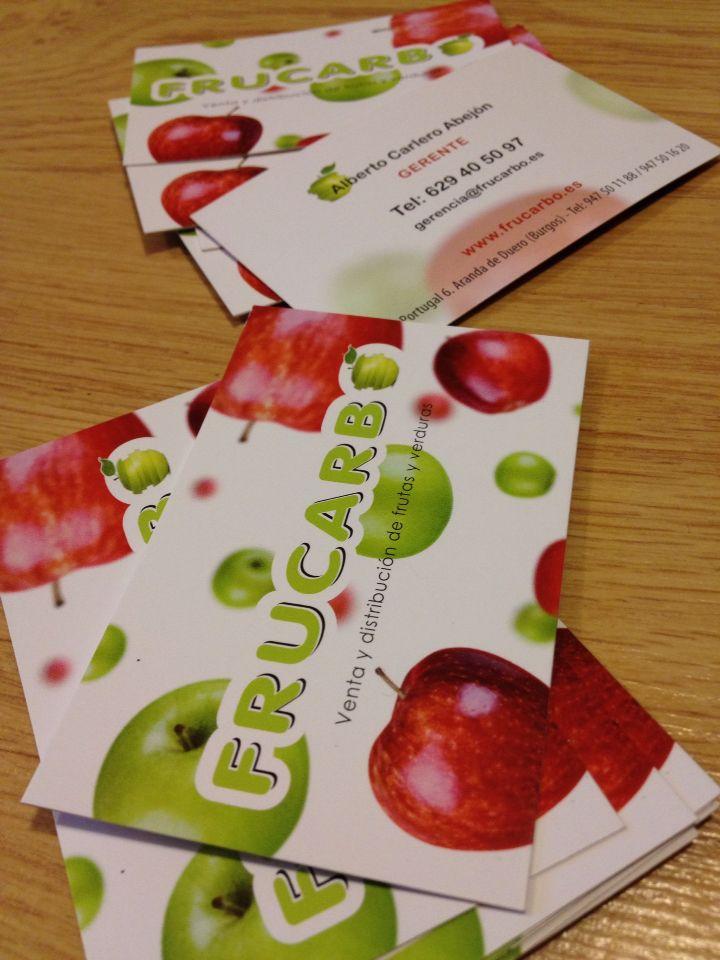 Nuevas Tarjetas Corporativas Para Frucarbo Preciosas Para Gerente Comercial Y Ventas Tarjeta Corporativa Frutas Y Verduras Disenos De Unas