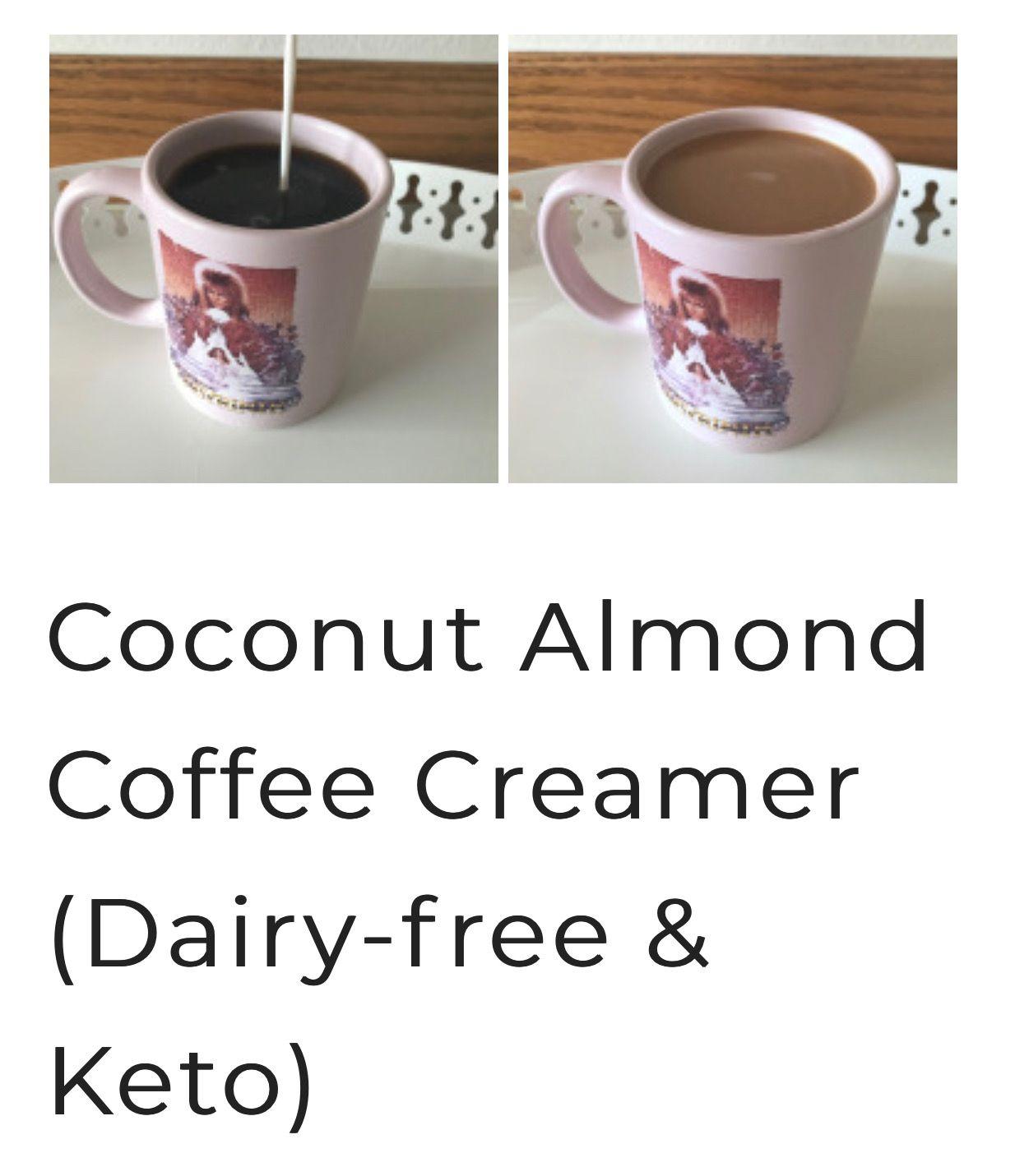 Coconut almond coffee creamer dairyfree keto coffee