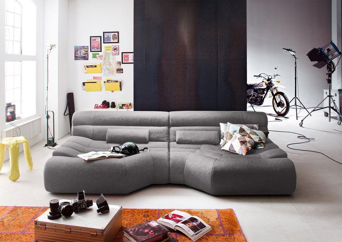 XXL Big Sofa Stoff inkl. Kissen versch. Farben »TARA ...