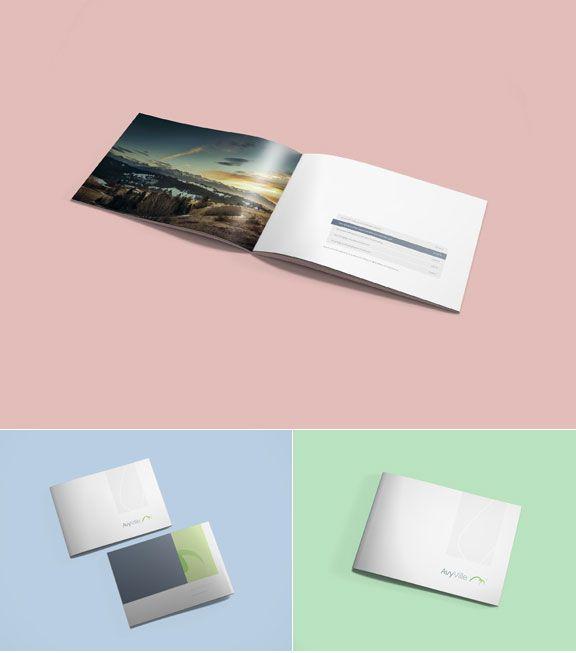 A4 Landscape Brochure Mockup Mockups PSD Templates for Designers - gate fold brochure mockup