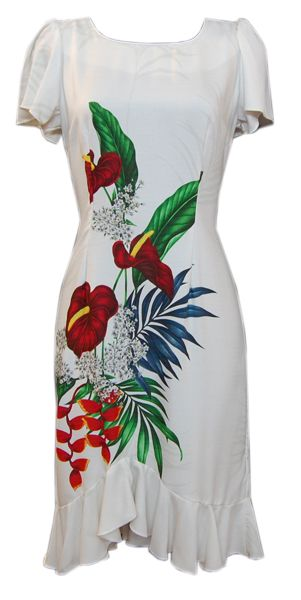 f586a6c91d3 Hawaiian Molokai Midlength Queen Dress
